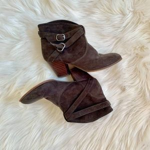 Forever 21 | Slip On Buckle Ankle Booties